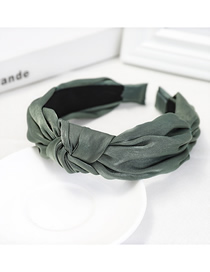 Fashion Light Green Knotted Headband Fabric Wide-brimmed Headband