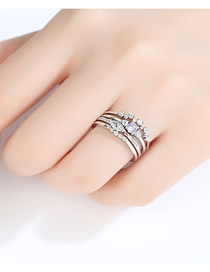 Fashion Platinum Detachable Ring
