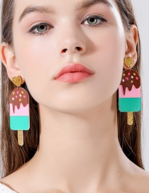 Fashion Popsicle Ice Cream Popsicle Earrings