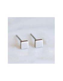Fashion Steel Color Stainless Steel Geometric Gold-plated Earrings