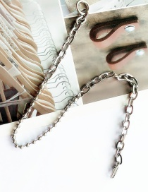 Fashion Silver Geometric Ring Necklace