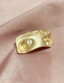 Fashion Gold Face Brooch