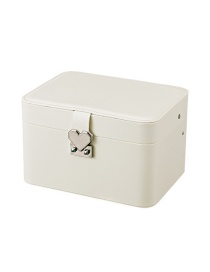 Fashion White Rounded Multi-layer Automatic Disk Storage Box