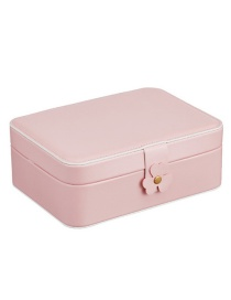 Fashion Pink Pu Double Jewellery Box