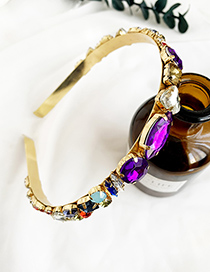 Fashion Color Alloy Diamond Headband