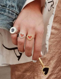 Fashion Jinhong Love Opening Drip Ring