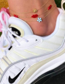 Fashion Gold Multi-layered Smiley Lips And Anklet