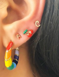 Fashion Color Rainbow Stud Earrings Set
