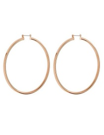Fashion Rose Gold Large Circle Gold-plated Earrings