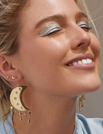 Fashion Gold Moon Tassel Earrings