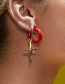Fashion Red Resin Earrings