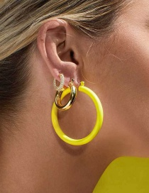Fashion Gold Big Circle Earrings