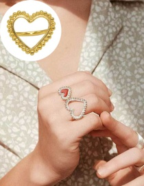 Fashion Silver Love Opening Drip Ring