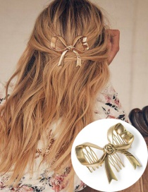 Fashion Gold Gold-plated Flower Hair Clip
