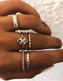 Fashion Gold Gold-plated Ring Set