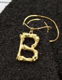 Fashion B Gold English Alphabet Necklace