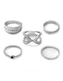 Moon Star Ring Set De 5 Piezas