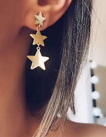Fashion Gold Star Tassel Earrings
