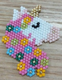 Fashion Color Mizhu Weaving Unicorn Accessories  Beads