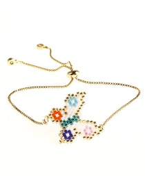 Fashion Color Rice Beads Woven Butterfly Bracelet  Beads
