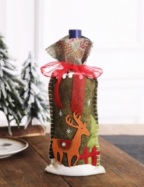 Fashion Elk Country Christmas Wine Set