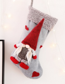 Fashion H Gray Paragraph No Face Doll Christmas Stockings Three-dimensional Faceless Doll Christmas Stockings