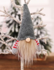Fashion H Gray Section No Face Doll With Hand Pendant Faceless Doll Doll Christmas Tree Pendant