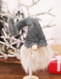 Fashion H Gray Long Hat Section No Face Old Man Pendant Faceless Long Beard Doll Christmas Tree Pendant