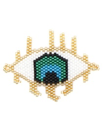 Fashion Gold Rice Beads Woven Eye Accessories