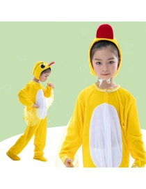 Fashion Yellow Duck Split Long Section Cartoon Yellow Duck Animal Play Suit