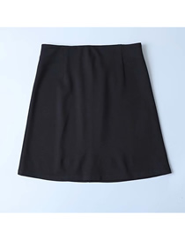Fashion Black Solid Color Back Zip A Word Skirt