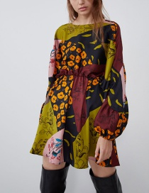 Fashion Color Patchwork Print Dress