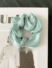 Fashion Blue Green Satin Pleated Fabric Head Rope
