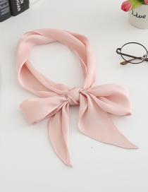 Fashion Pink Simulation Silk Ribbon Long Silk Scarf