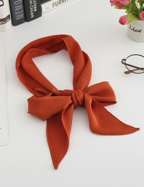 Fashion Brick Red Simulation Silk Ribbon Long Silk Scarf
