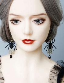 Fashion Black Terror Spider Earrings