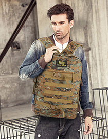 Fashion Camouflage Green Canvas Backpack