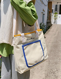 White Canvas Shoulder Bag