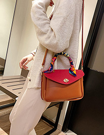 Red Locked One-shoulder Crossbody Handbag