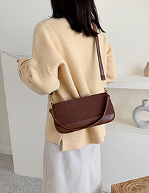 Dark Brown Chain Single Crossbody Bag
