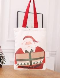 Fashion Elderly Backpack Bag Santa Claus Gift Bag