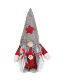 Fashion Gray Hat Section Standing Long Braid Without Face Doll Christmas Tree Pendant