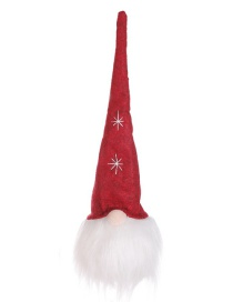 Fashion Red Hat With Light Without Face Doll Christmas Tree Pendant