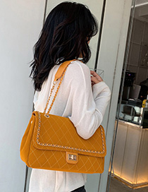Yellow Chain Rhombic Shoulder Messenger Bag