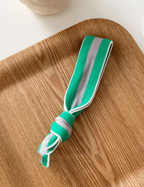 Fashion Gray-green System Striped Knotted Wide Rubber Band