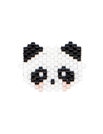 Fashion Black And White Unicorn Rice Beads Weaving Accessories
