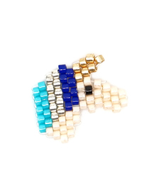 Fashion Gold Blue Unicorn Rice Beads Weaving Accessories