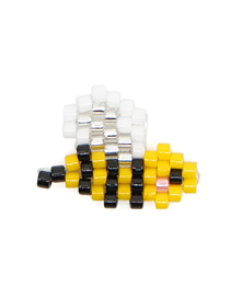 Fashion Yellow Bee Rice Beads Weaving Accessories