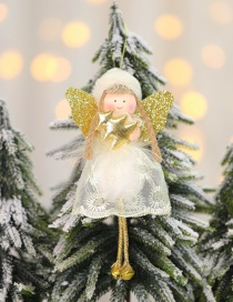 Fashion Golden Christmas Tree Angel Lace Doll Christmas Tree Pendant
