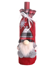 Fashion Red Three-dimensional Old Man Doll Red Wine Bottle Set Champagne Bottle Bag